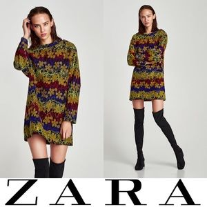 NWT ZARA Embroidered Mini Dress